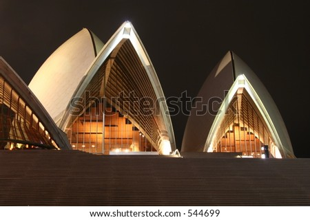In front of Sydney opera house