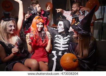 Good Moods Halloween Party Stock Photo 473038204 - Shutterstock