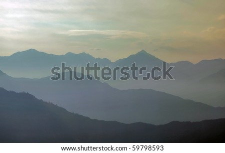 in haze - stock photo