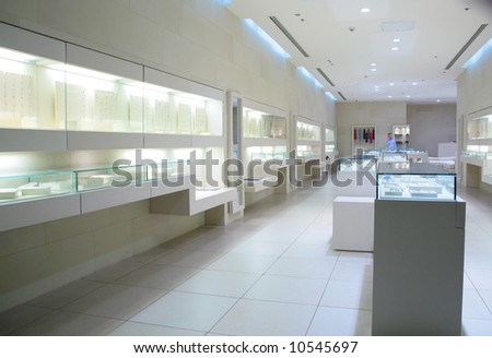 in jewelry store - stock photo
