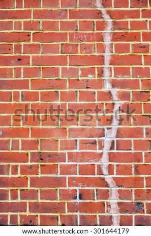 in london    abstract texture of a ancien wall and ruined brick - stock photo