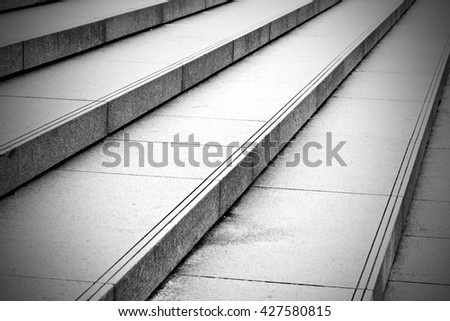 in london old steps and marble ancien line  - stock photo