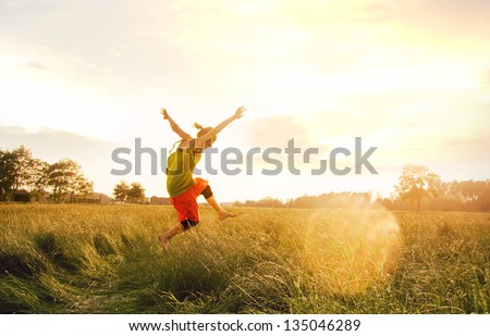 In love with the summer - stock photo