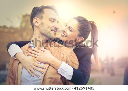 In love young couple - stock photo