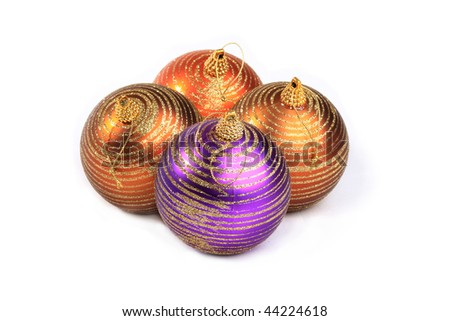 In many countries of the world there is a tradition, to Christmas to decorate a fur-tree various ornaments - stock photo