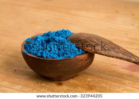 In painting & colour theory blue is 1 of the 3 primary colours that can be mixed to create a wider gamut of hues (colours). Blue is also a primary colour in the RGB (Red, Green & Blue) colour system. - stock photo