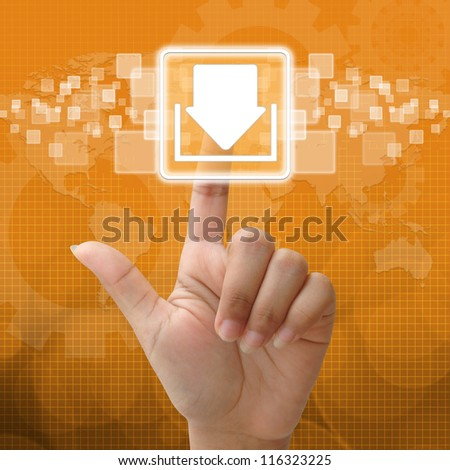 In press download icon for business concept - stock photo