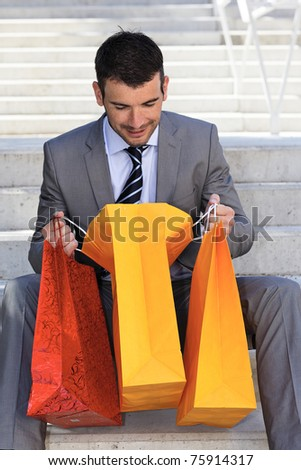 in the bag - stock photo