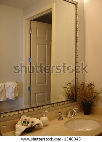 In The Bathroom - stock photo