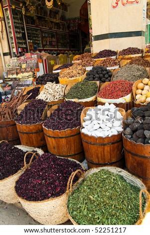 In the bazaar from Assuan, Egypt - stock photo