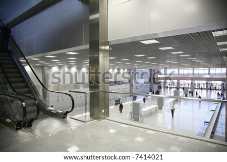 in the business center - stock photo