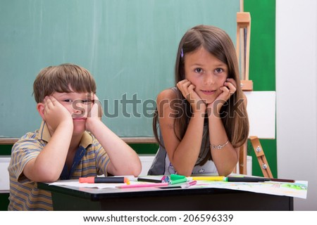 In the classroom - stock photo