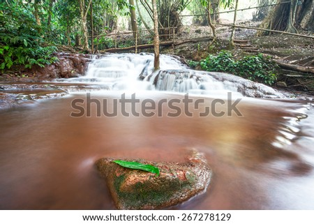 in the forests of Thailand is a beautiful waterfall - stock photo