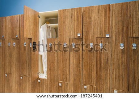 in the gym locker room - stock photo