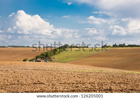 In the heart of horse farm country - stock photo