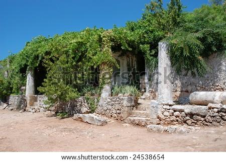 In The monastery of Anafonitria Zakynthos Greece - stock photo
