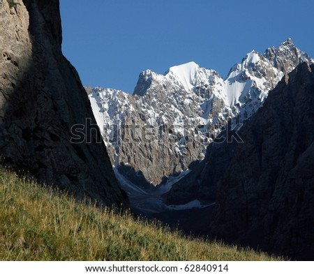 In the Mountain Valley - stock photo