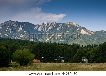in the mountains - stock photo