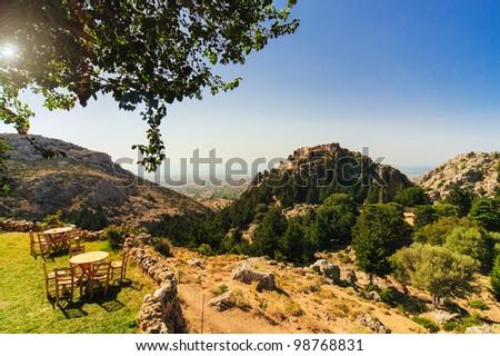 In the mountains of Kos/Greece - stock photo