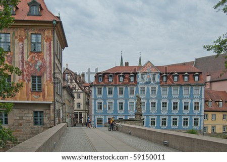 In the old town of Bamberg, Germany - stock photo