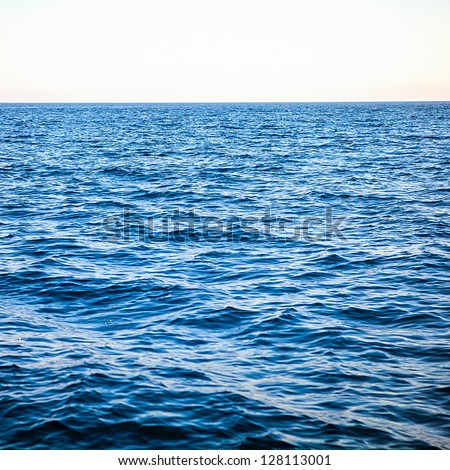 In the open tropical sea - stock photo