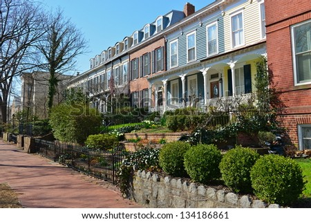 In the picturesque area of Capitol Hill, Washington DC, United States - stock photo