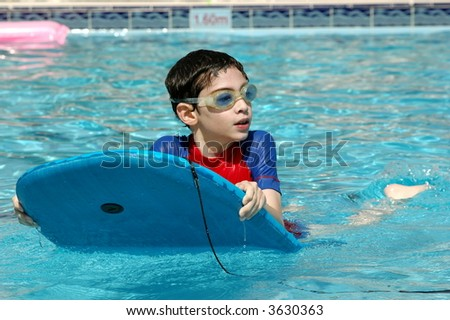 In the pool - stock photo