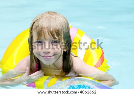 In the Pool! - stock photo