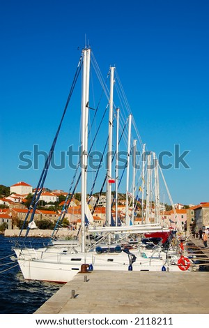 In the port - stock photo