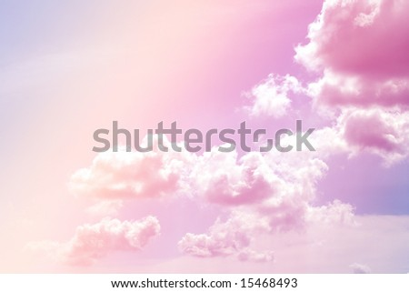 In the Rainbow up close pastel sky - stock photo