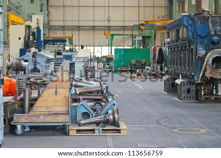 In the repair workshop shipyard - stock photo