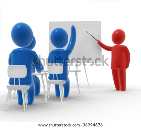 In the school - stock photo