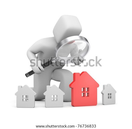 In the search for a new house - stock photo