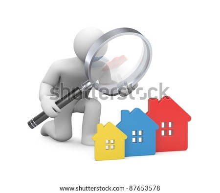 In the search for a new house . Image contain clipping path - stock photo