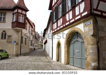 in the streets of bamberg - stock photo
