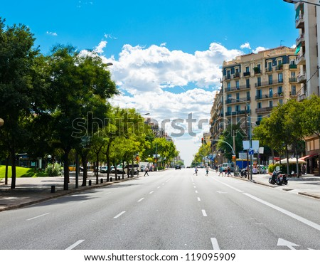 In the streets of Barcelona. Spain. - stock photo