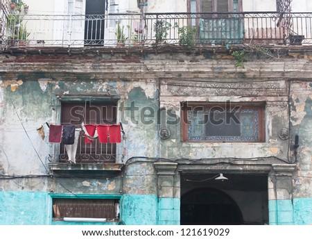 In the streets of Havana. Cuba - stock photo