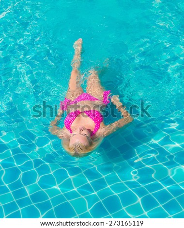 In Water Graceful Relaxing  - stock photo