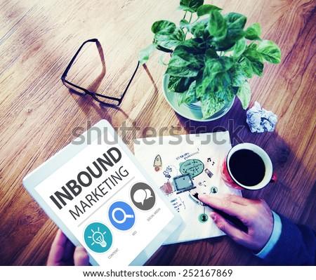Inbound Marketing Commerce Content Social Media Concept - stock photo