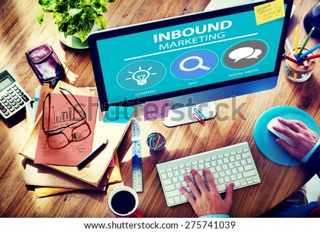 Inbound Marketing Strategy Advertisement Commercial Branding Concept - stock photo