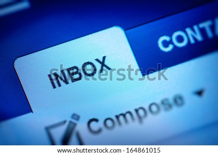 inbox icon - stock photo