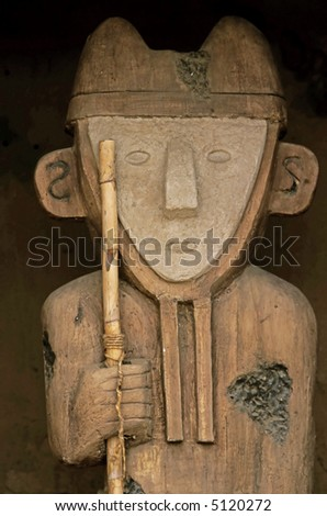 Inca Statue - stock photo