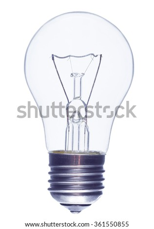 Incandescence bulb on a white background