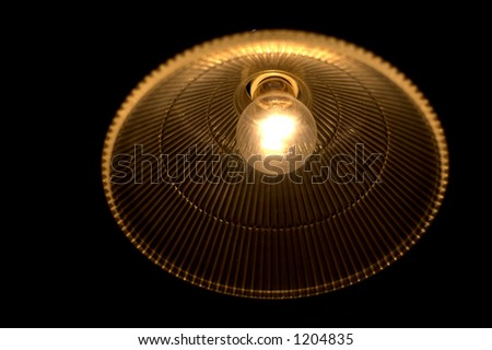incandescent bulb in the dark