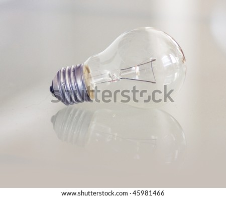 Incandescent light bulb - stock photo