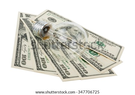 Incandescent light bulb and money