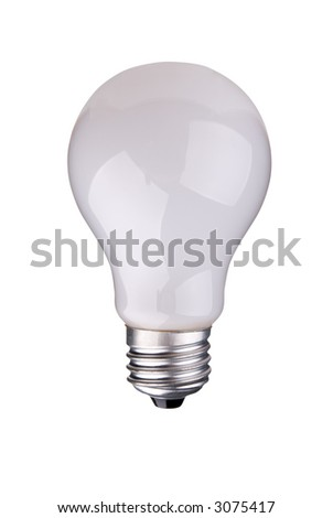 incandescent light-bulb isolated over white with a clipping path