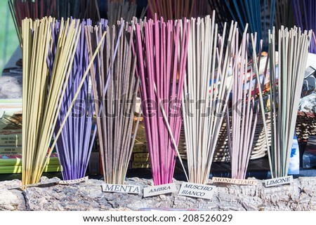 incense fragrances for home - stock photo