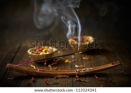 Incense stick. Aromatherapy - stock photo