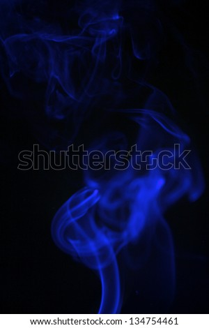 Incense stick with smoke trail on nintendo background
